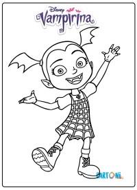 Vampirina Disegni da colorare cartoni animati