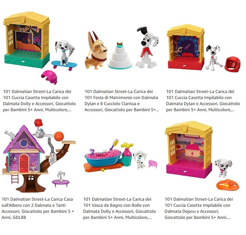 101 Dalmation street giocattoli prezzi offerte giochi bambini età prescolare regali natale
