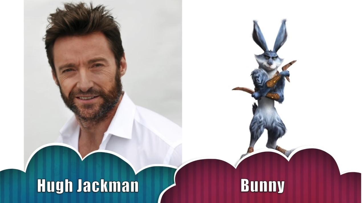 Calmoniglio Le cinque leggende - Bunny The rise of the guardians - Doppiatori originali - Hugh Jackman