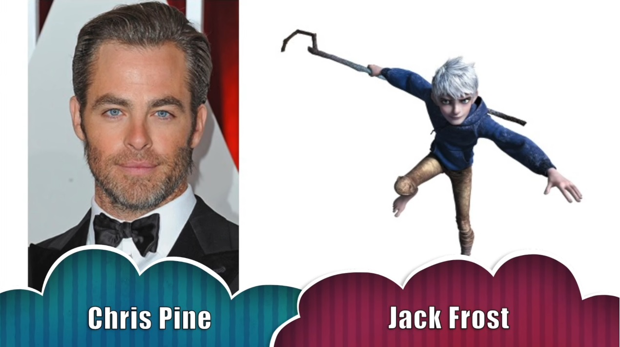 Jack Frost le cinque leggende - The rise of the guardians - Doppiatori originali - Chris Pine