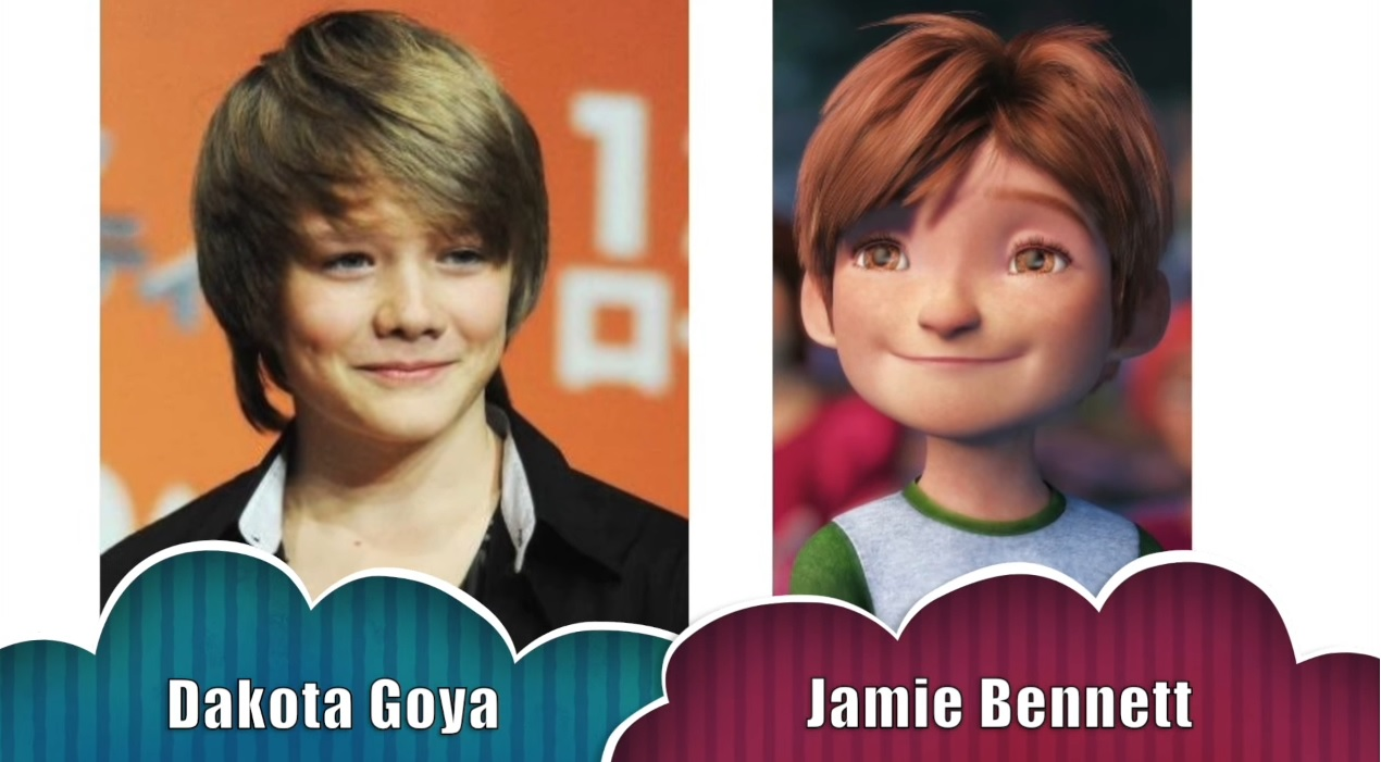 Jamie Bennet Le cinque leggende - The rise of the guardians - Doppiatori originali - Dakota Goya