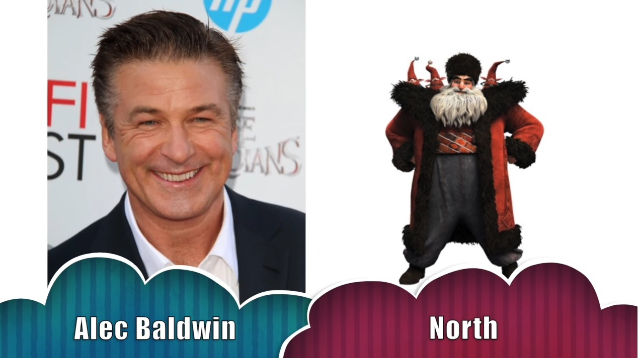 Nord Le cinque leggende -North The rise of the guardians - Doppiatori originali - Alec Baldwin