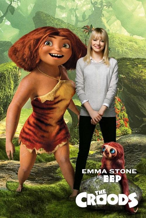 I Croods - Emma Stone - Doppiatori originali - Voce di Hip - Eep voice - actor the croods cast