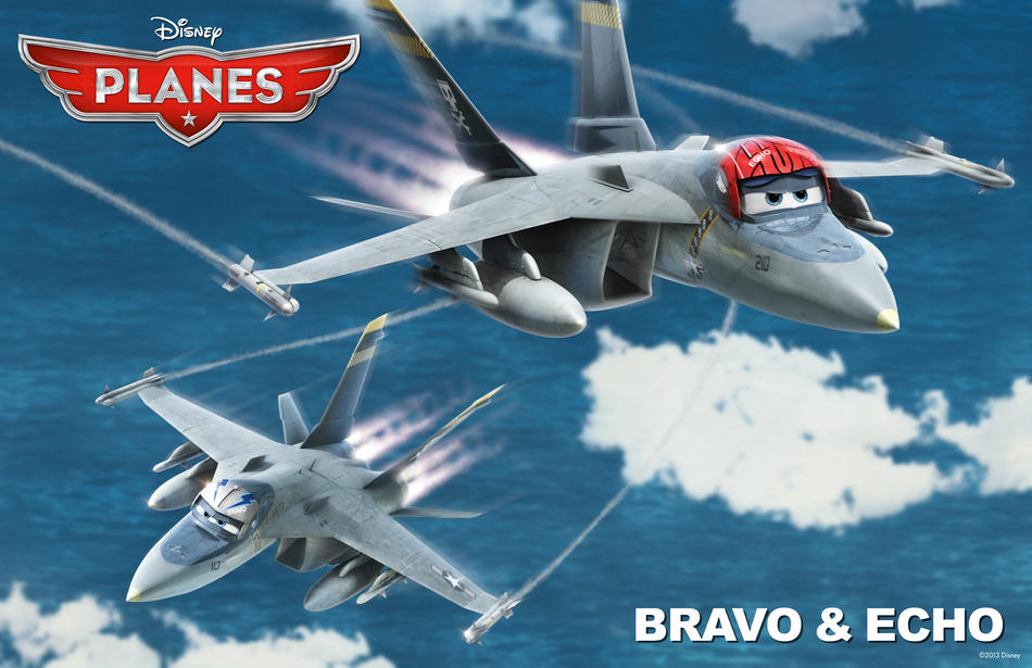 Planes film Disney - Bravo e Echo - Disneytoon - Personaggi - Planes Disney Wiki - Planes Disney Film