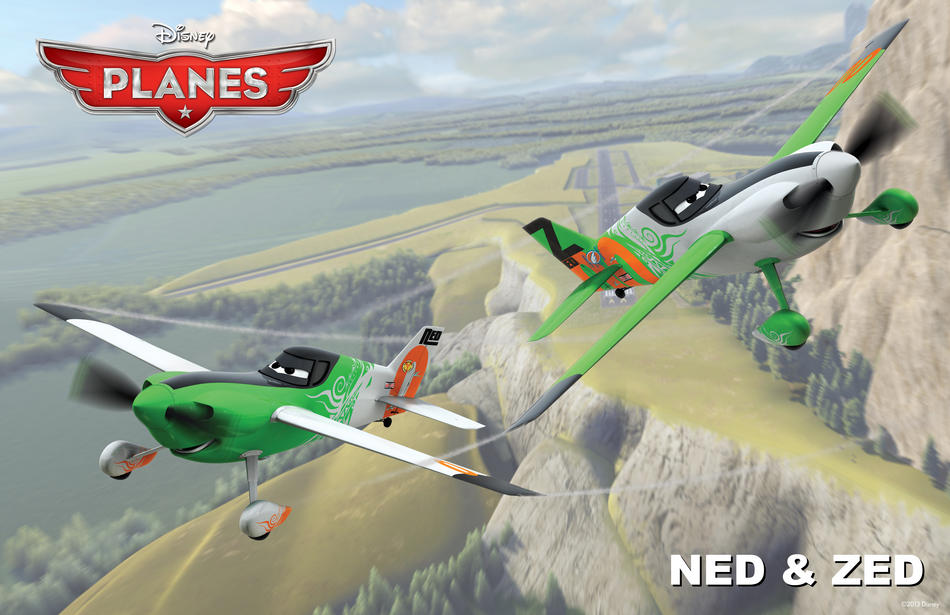 Planes film Disney - Ned e Zed - Disneytoon - Personaggi - Planes Disney Wiki - Planes Disney Film