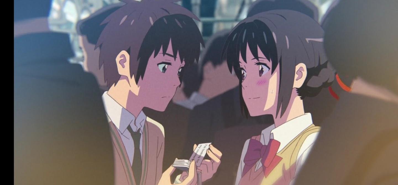 You name. film di animazione giapponese 2016 protagonista incontro sul treno