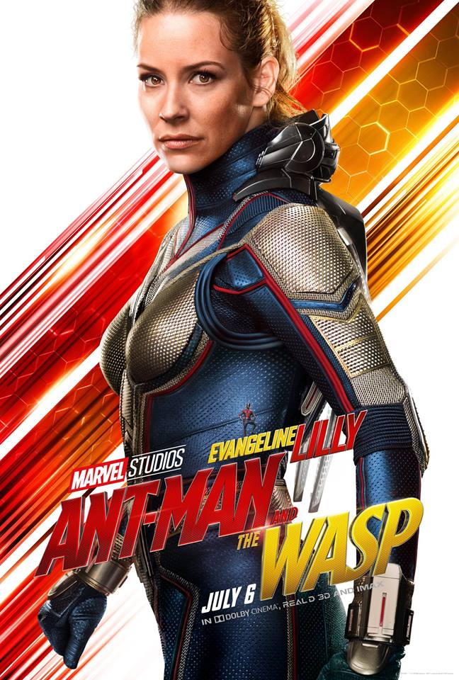 Ant-Man and the Wasp attori film Marvel 2018 Evangeline Lilly in Hope van Dyne / Wasp