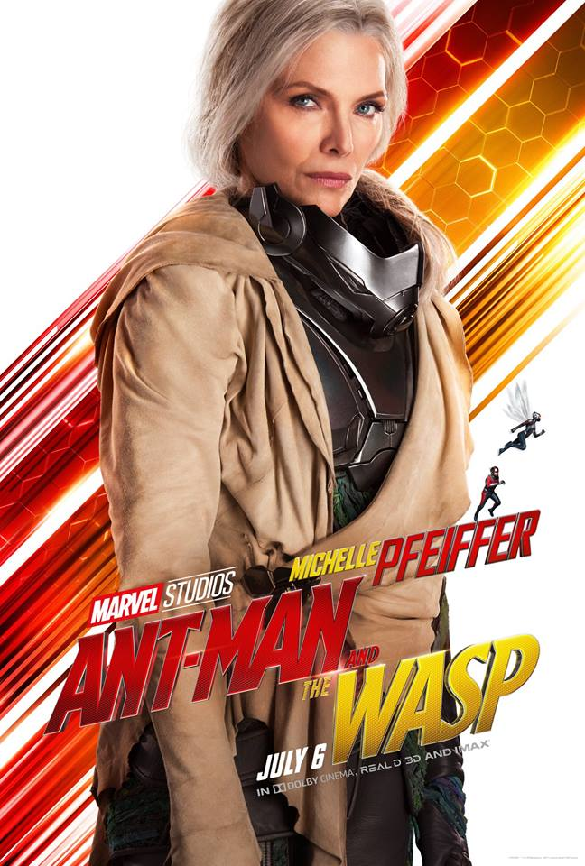 Ant-Man and the Wasp attori film Marvel 2018 Michelle Pfeiffer in Janet van Dyne / Wasp