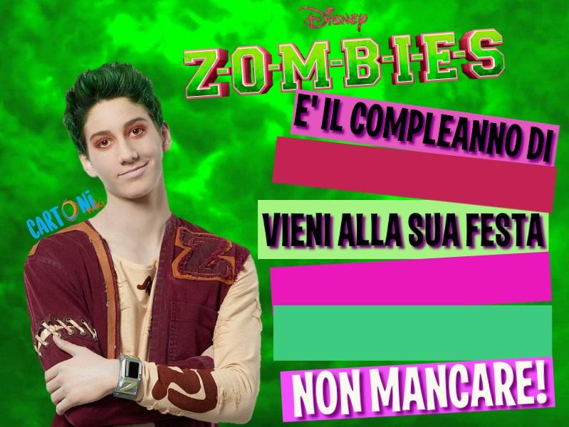 Inviti Zombies Disney - Inviti feste compleanno