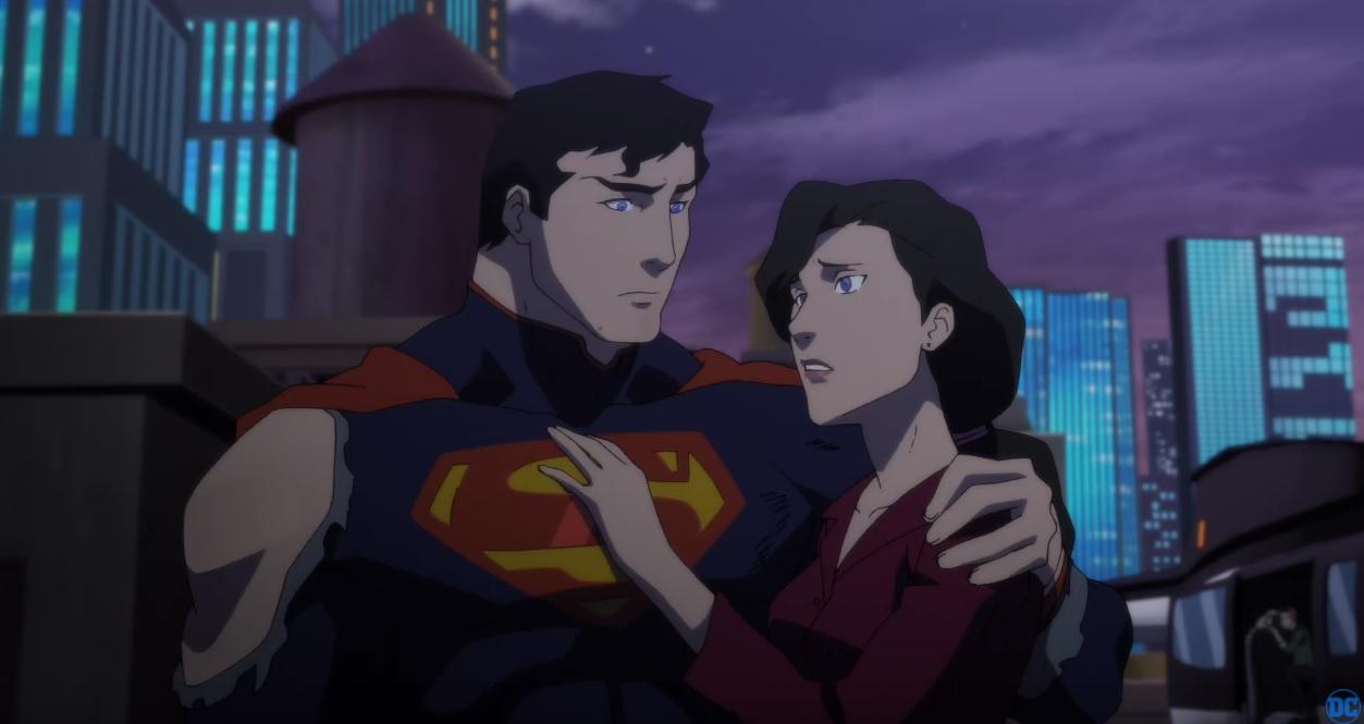 The death of superman cartoni animati