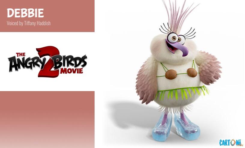 Debbie voce originale di Tiffany Haddish- Angry birds 2 il film Amici nemici per sempre - 2 the movie Characters Personaggi - film di animazione 2019 Sony animation pictures