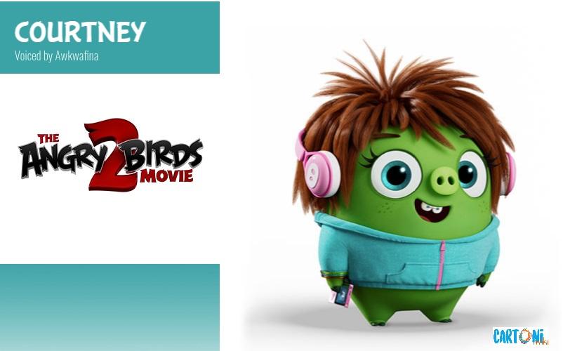 Courtney voce originale di Awkwafina - Angry birds 2 il film Amici nemici per sempre - 2 the movie Characters Personaggi - film di animazione 2019 Sony animation pictures