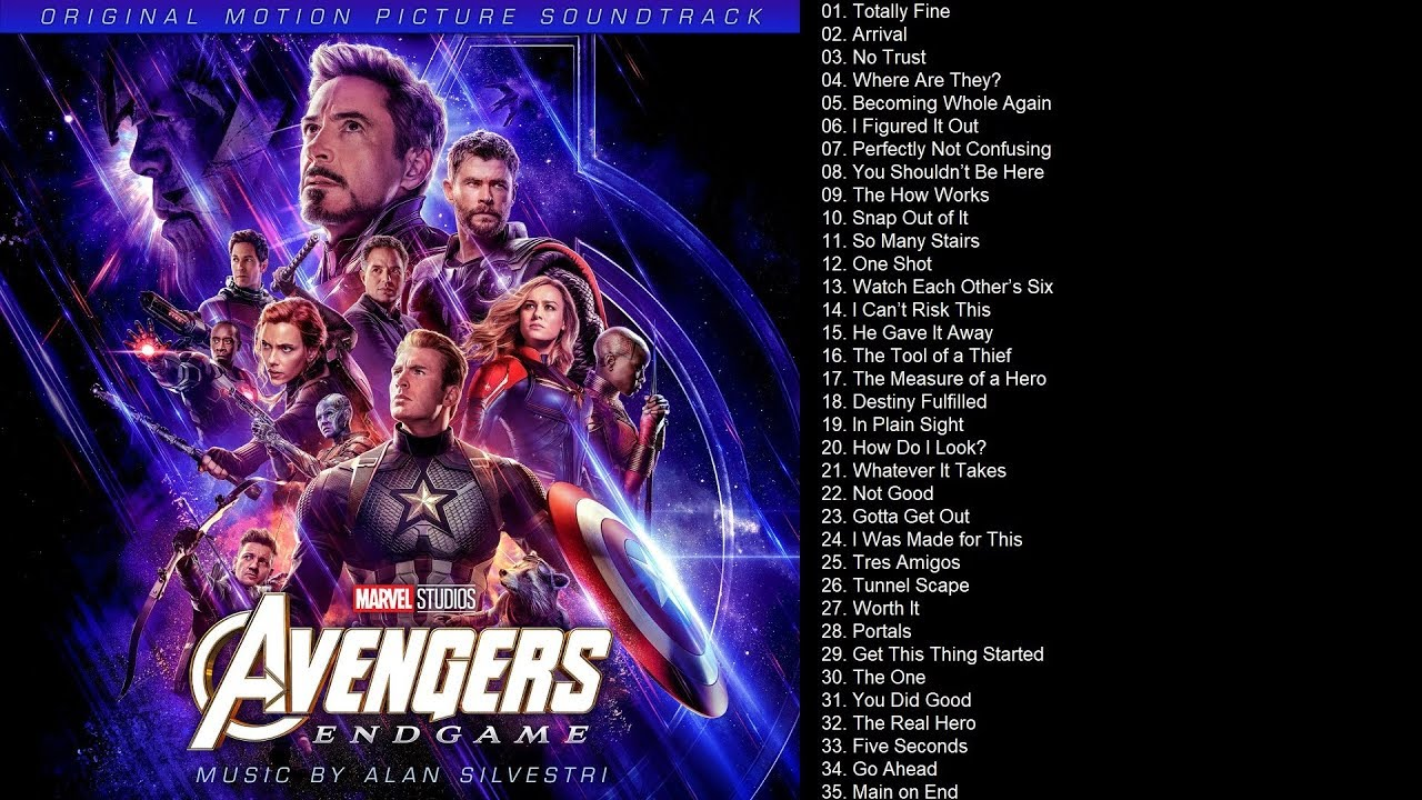 Avengers Endgame Soundtrack - Colonna sonora