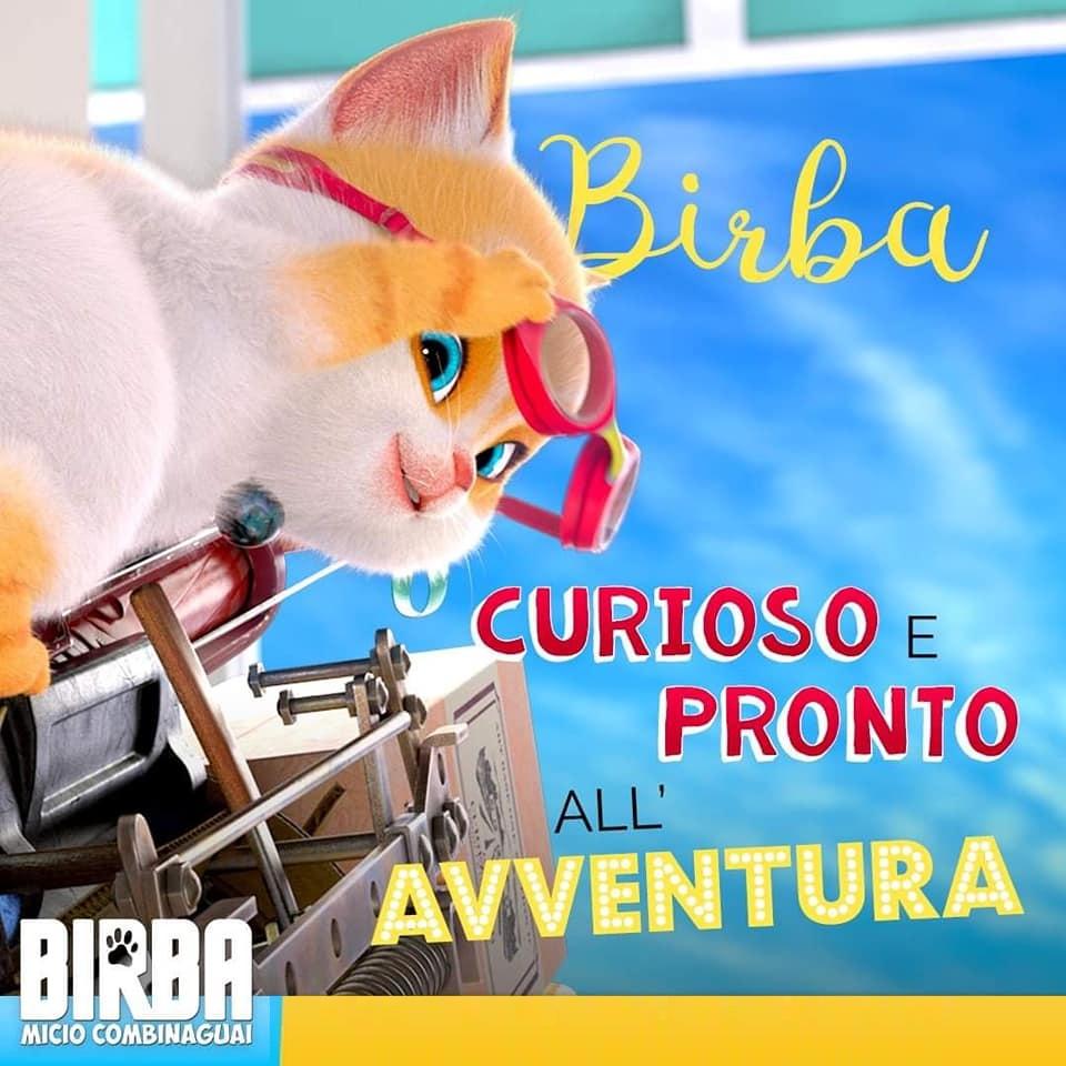 Birba gatto combinaguai personaggi Birba film di animazione 2019 Ligh Chaser - Notorius Picture dal 18 luglio 2019 al cinema