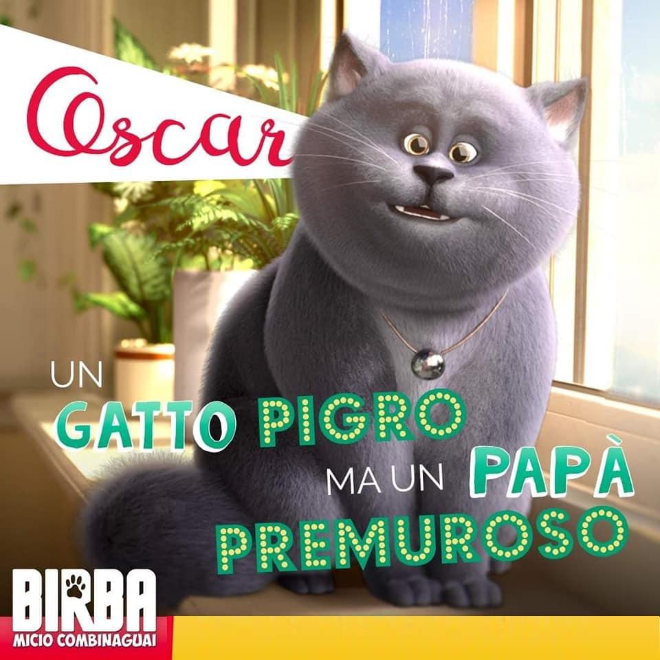 OSCAR Birba gatto combinaguai personaggi Birba film di animazione 2019 Ligh Chaser - Notorius Picture dal 18 luglio 2019 al cinema