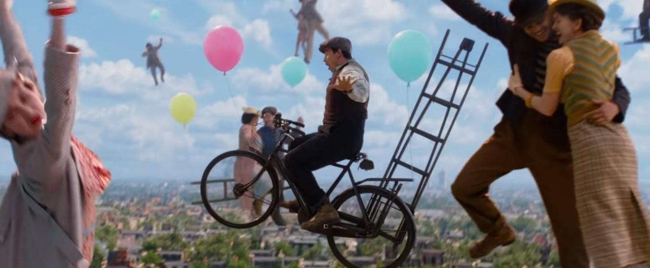 Il ritorno di Mary Poppins - Trailer - Volando su una bicicletta - Film Disney 2018 - Film Disney Natale - Mary Poppins