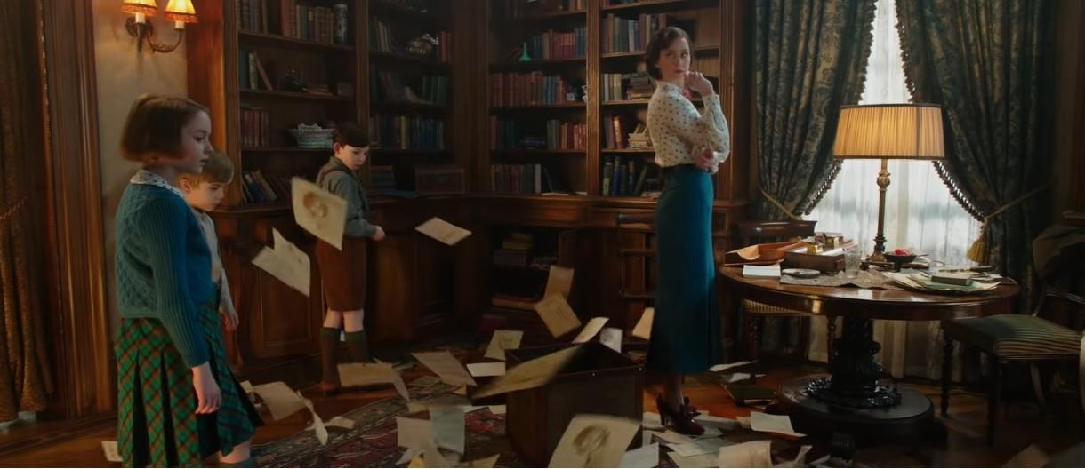 Il ritorno di Mary Poppins - Trailer - Lettere che volano in ufficio - Film Disney 2018 - Film Disney Natale - Mary Poppins