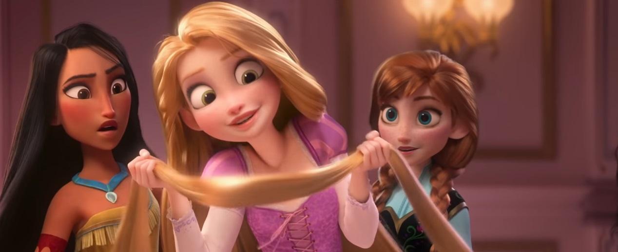 Rapunzel - Anna - Pocahontas - Principesse Disney  - Ralph Spacca Internet - Ralph Breaks the internet clip - ralph 2 - Film Disney