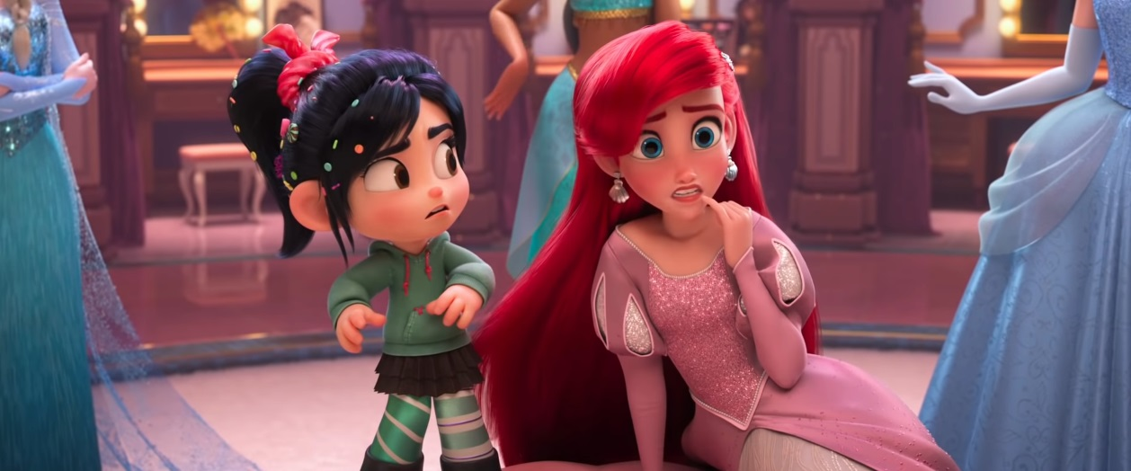 Ariel - Vanellope - Principesse Disney  - Ralph Spacca Internet - Ralph Breaks the internet clip - ralph 2 - Film Disney