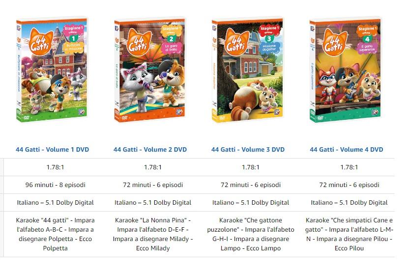 44 gatti cartone animato dvd prezzi offerte