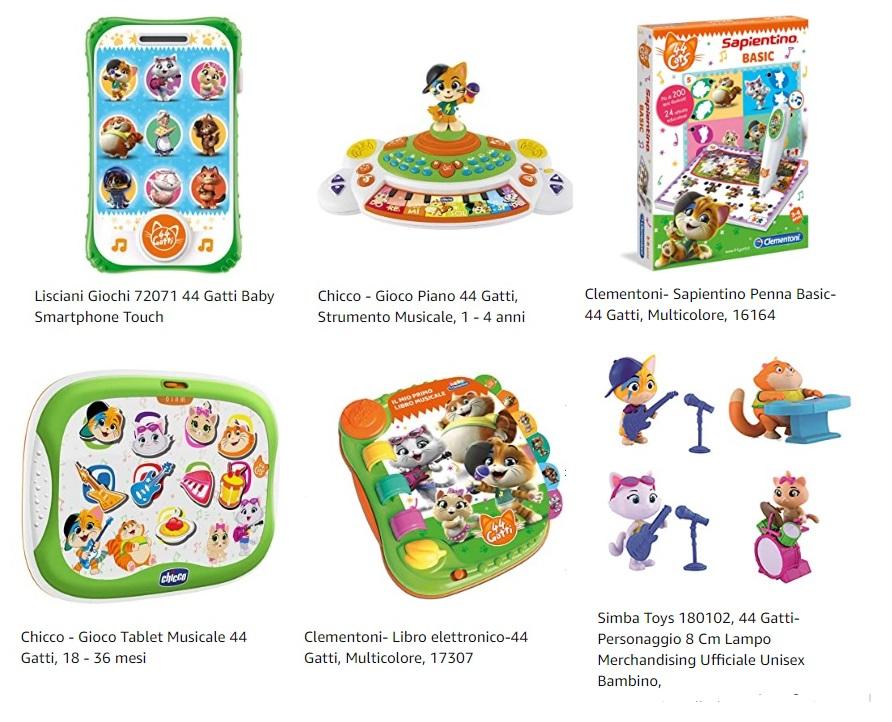 44 gatti - giocattoli chicco - peluche figurine puzzle bambini prezzi offerte