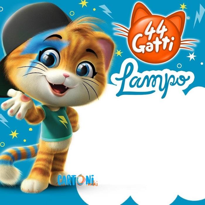 44 gatti Invito compleanno Lampo - inviti compleanno online