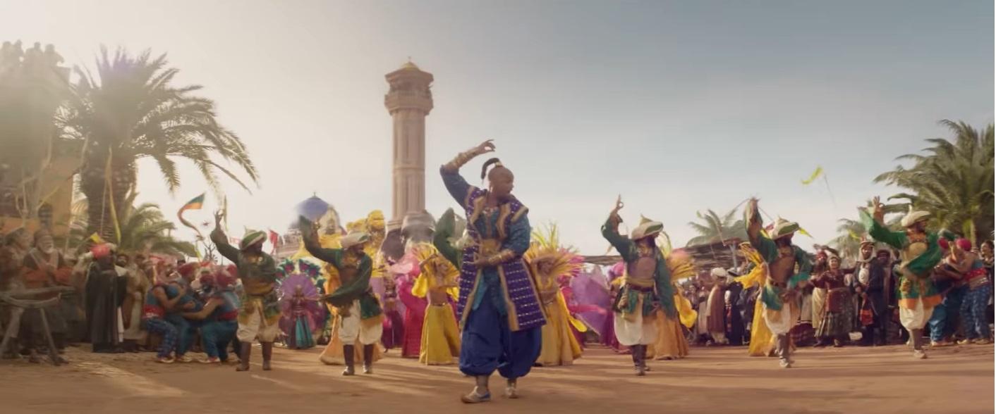 Il genio balla nel film disney live action del 2019 Aladdin
