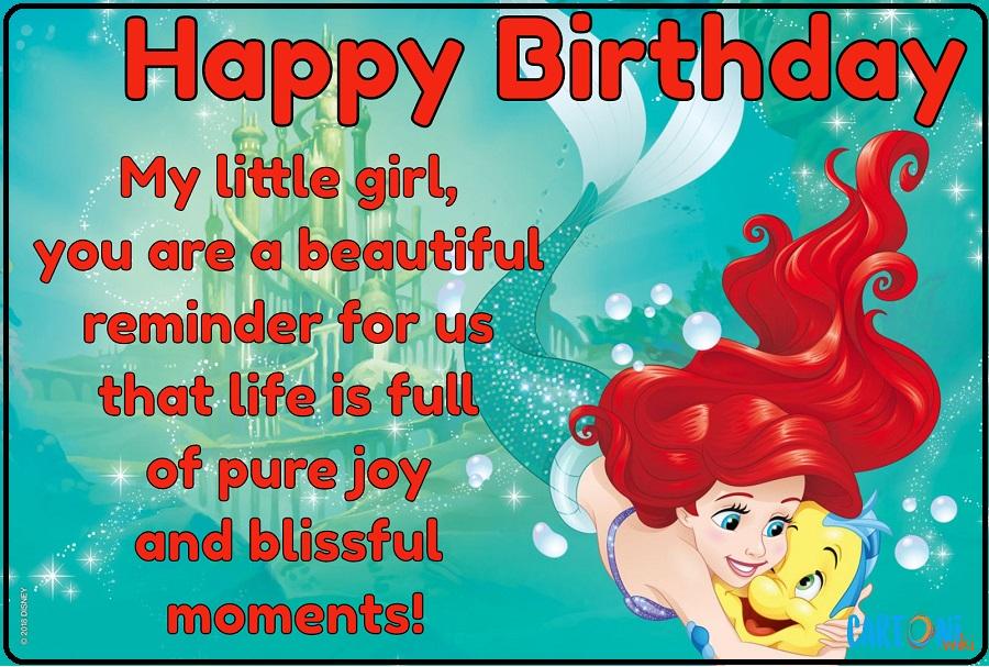Ariel Happy Birthday Princess Disney - Cartoni animati