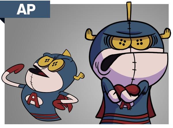 Atomic puppet Characters AP png personaggi cartoni animati super eroe k2 Disney Xd