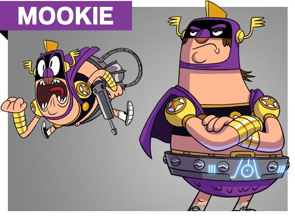 Atomic puppet Characters Mookie  png personaggi cartoni animati super eroe k2 Disney Xd