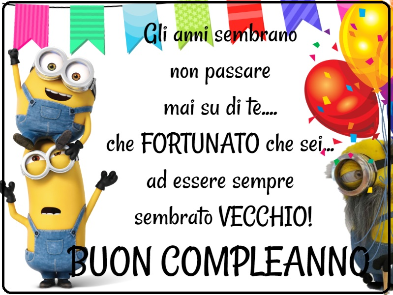 best loved 2c2ac 611c0 Minions auguri divertenti