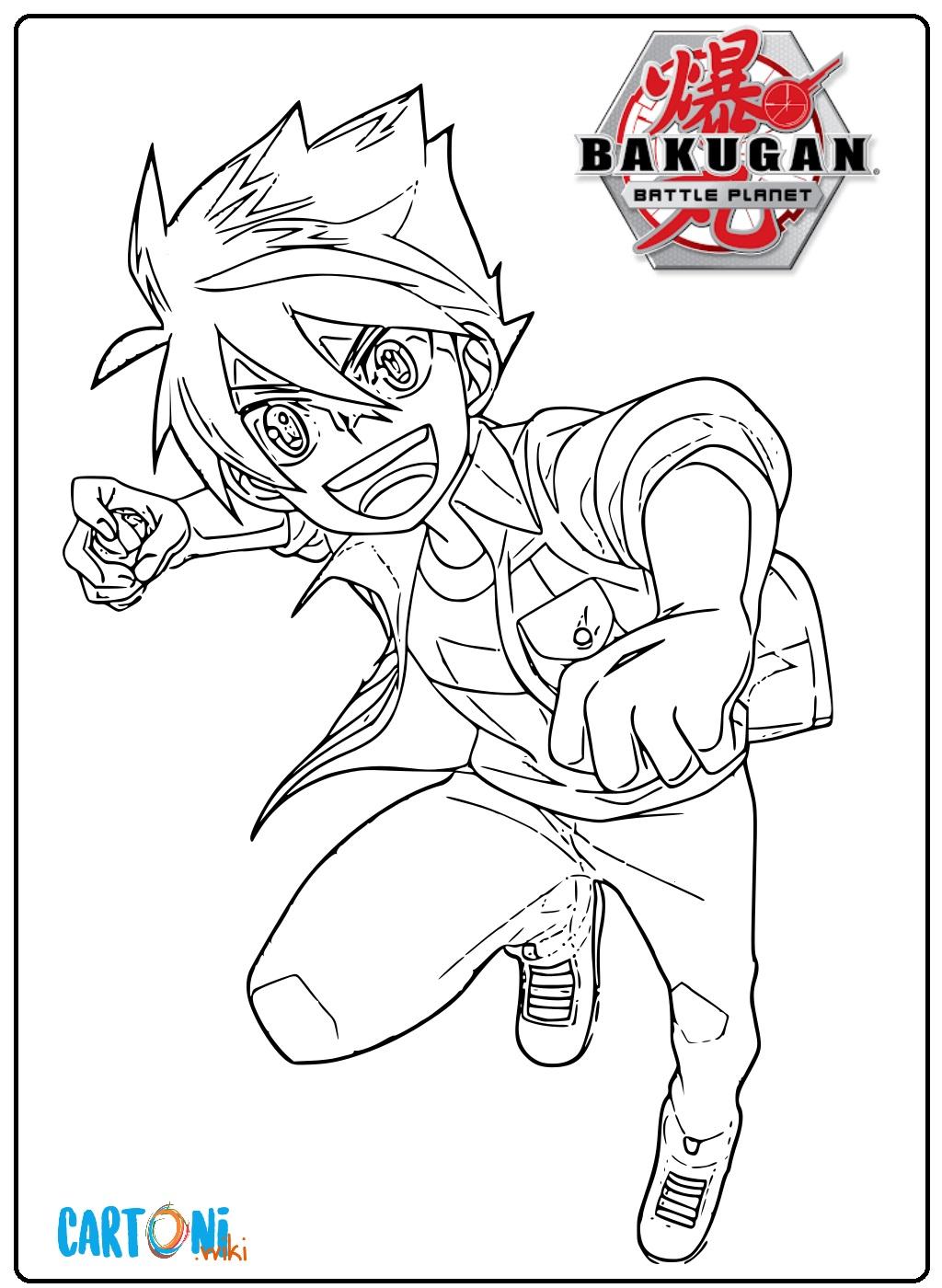 Disegno Bakugan Battle Planet da colorare - Stampa e colora