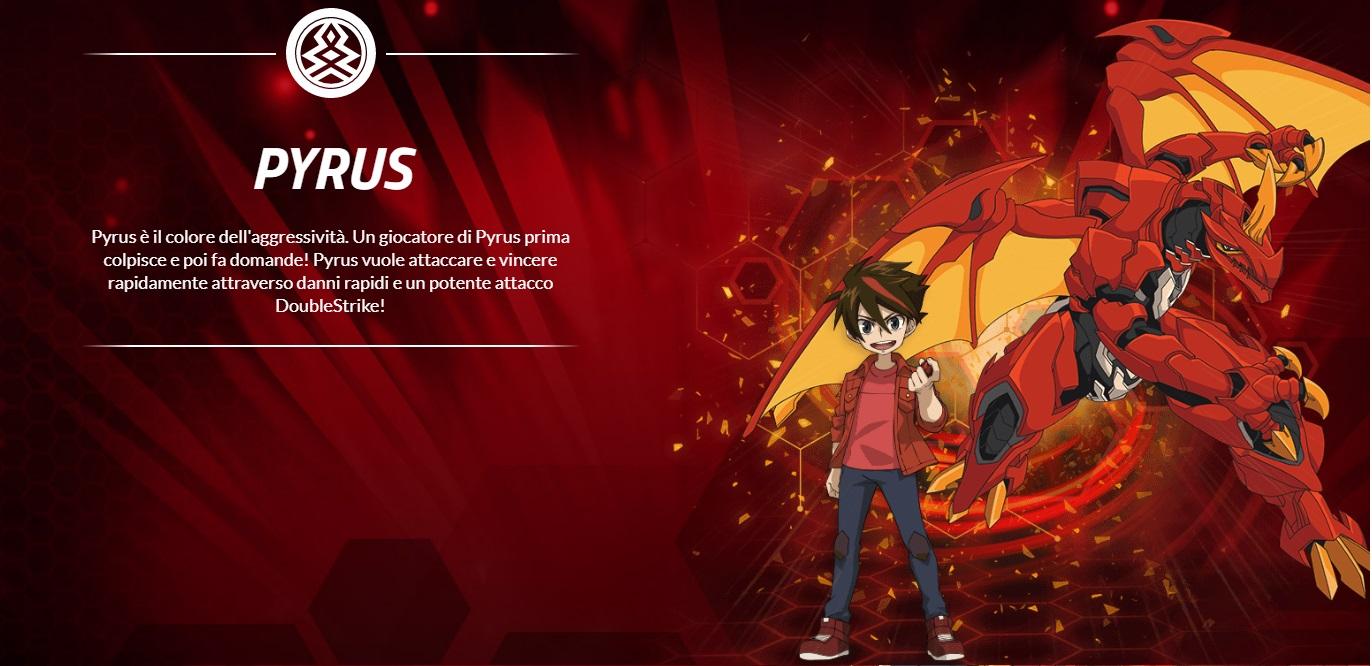 Fazione Pyrus -  Bakugan Battle Planet - Cartoni animati Cartoon network