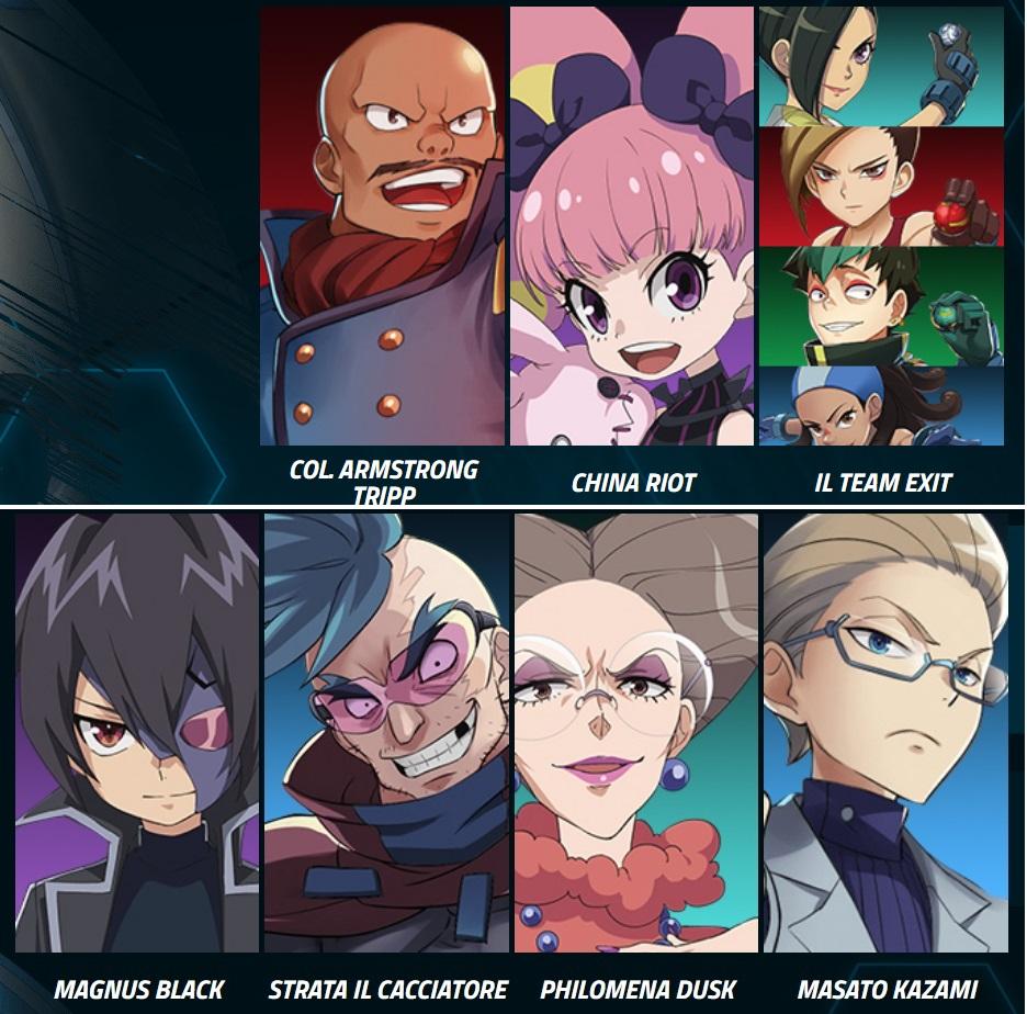 Nemici - cattivi -  Bakugan Battle Planet - Tutti gli eroi: Dan Lampo Lia Shun Wynton Cartoni animati Cartoon network