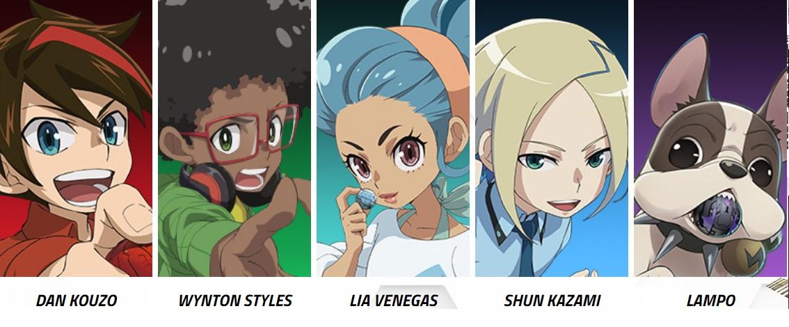 Personaggi -  Bakugan Battle Planet - Tutti gli eroi: Dan Lampo Lia Shun Wynton Cartoni animati Cartoon network