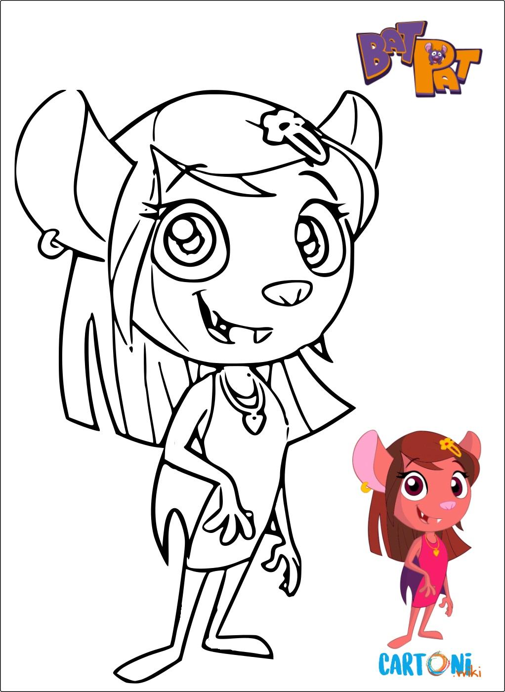 Bat Pat disegno Natty - Disegni da colorare
