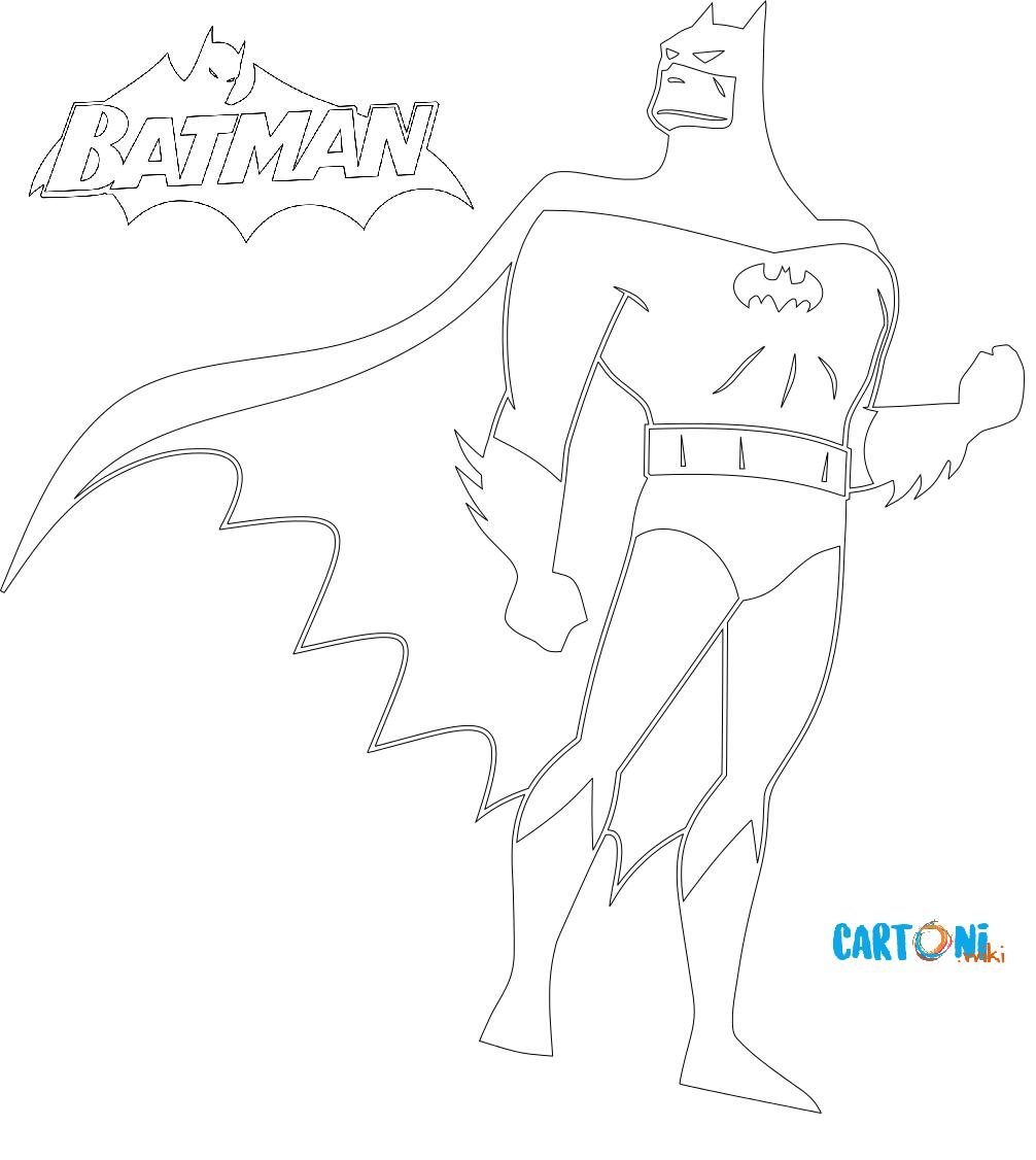 Batman Disegni da colorare - Disegni da colorare