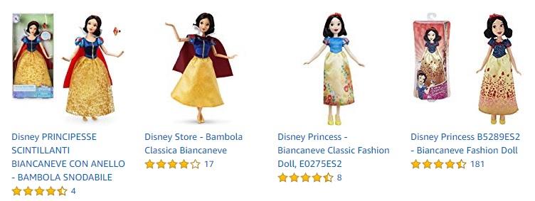 bambola biancaneve amazon bambole disney princess biancaneve biancaneve bambola disney bambola biancaneve e i sette nani