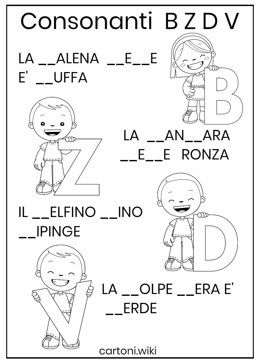 Consonanti B Z D V