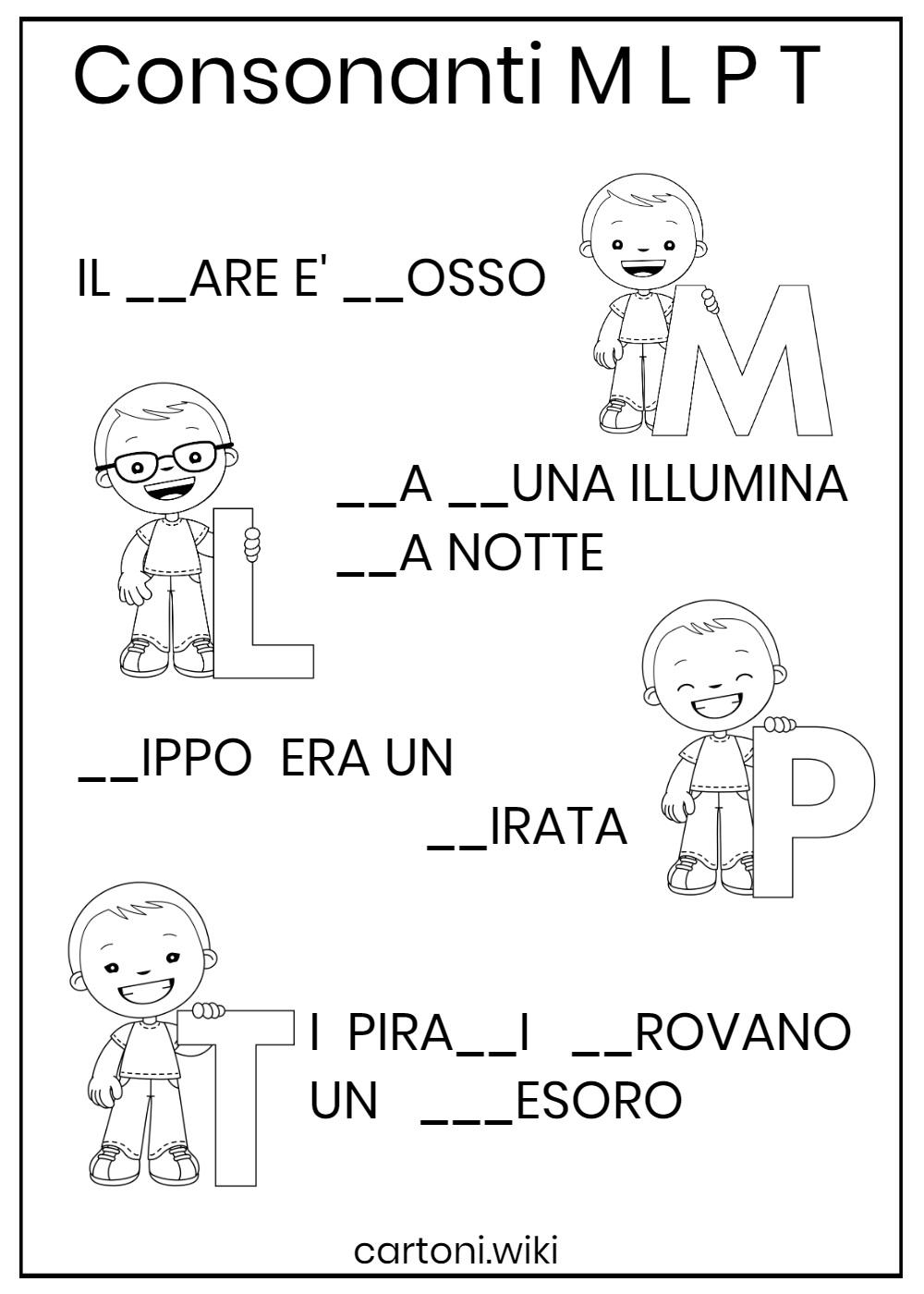 Consonanti M L P T - Consonanti