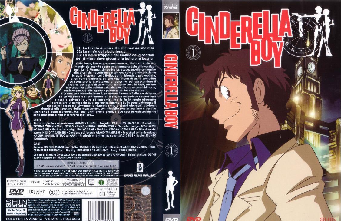 Cinderella boy anime cartoni animati Giapponesi DVD cover 1