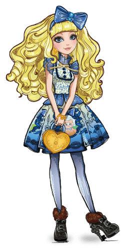 Ever After High  Blondie Lockes personaggio cartone animato reale figlia di Riccioli D'oro