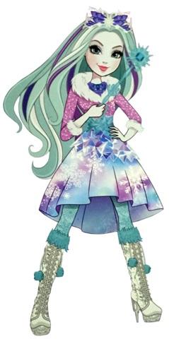 Ever After High  Crystal Winter personaggio cartone animato reale figlia del re e della regina della neve