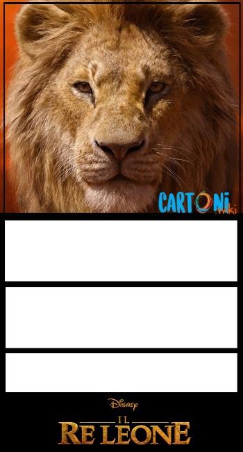 Il Re Leone invito compleanno Mufasa - inviti compleanno online