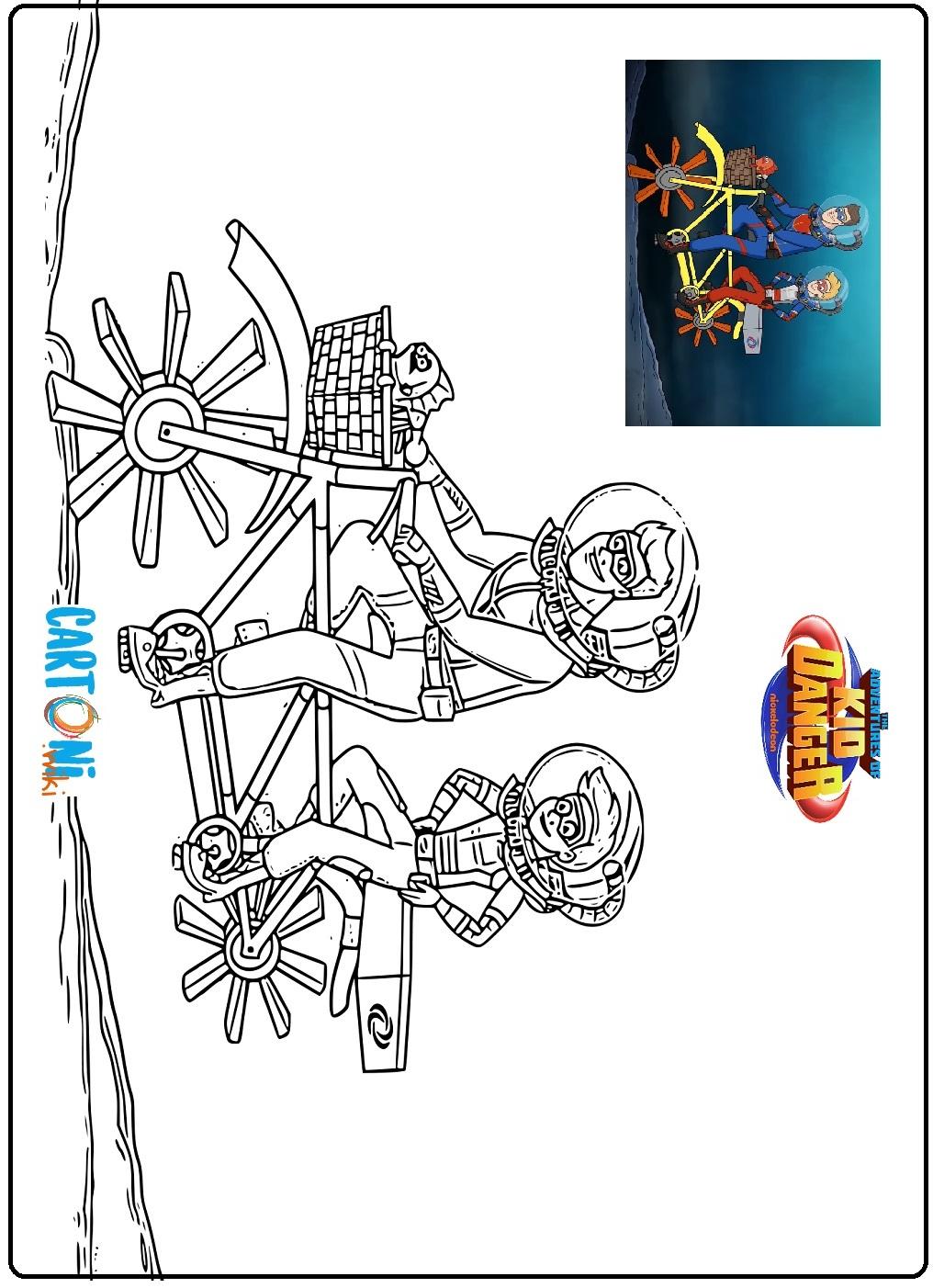 Disegni Da Colorare Kid Danger Cartoni Animati