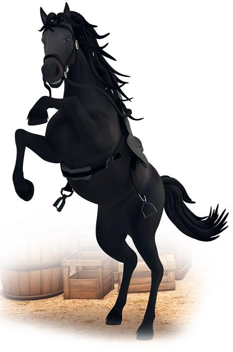 Le avventure di zorro cartone animato - personaggi Tornado stallone id Zorro - cavallo nero