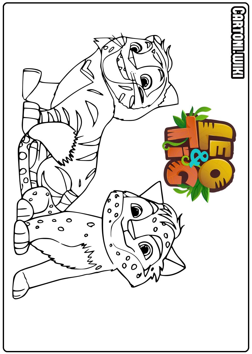 Leo Tig Disegni Da Colorare Cartoni Animati