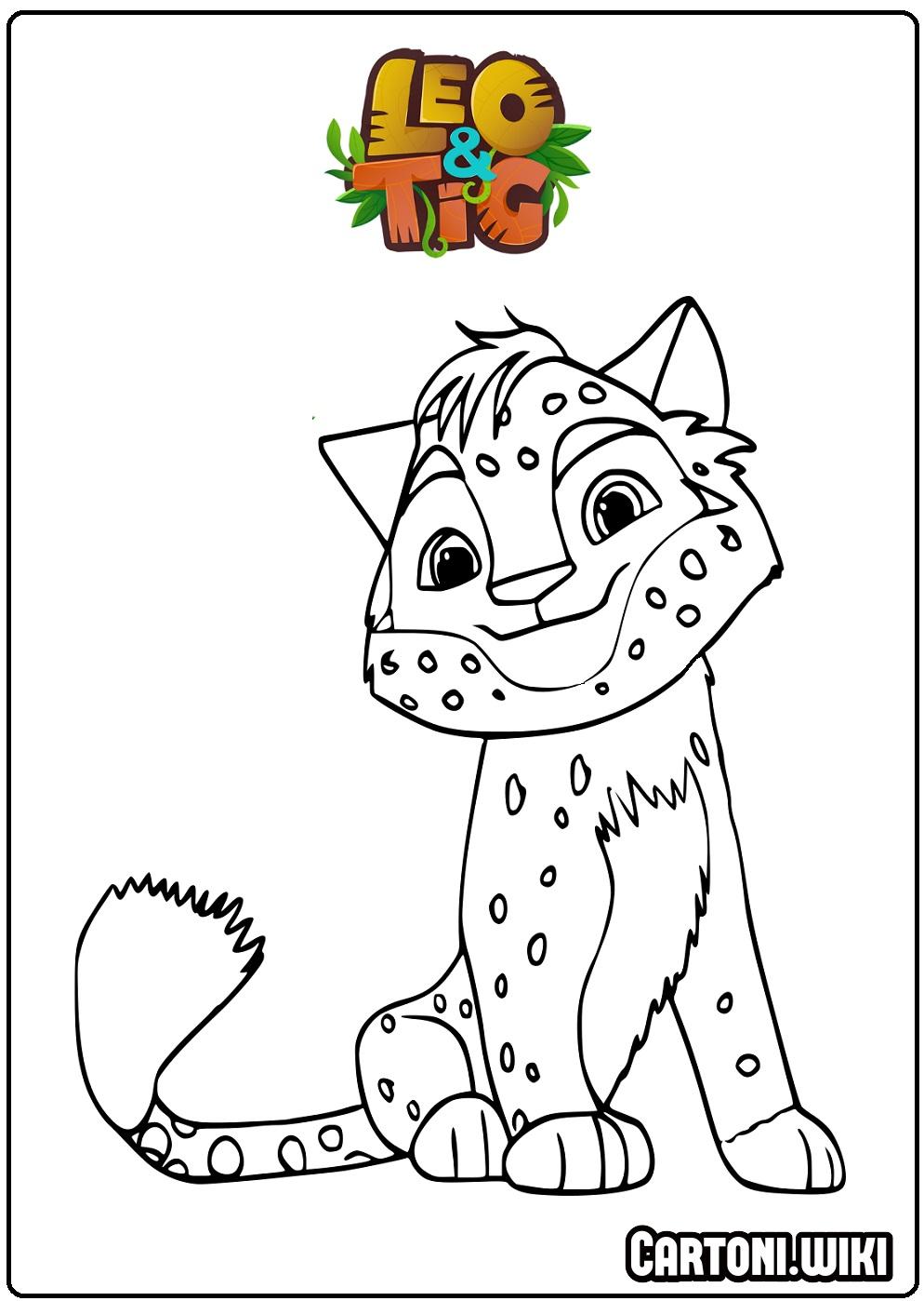 Disegni da colorare Leo e Tig  - Disegni da colorare