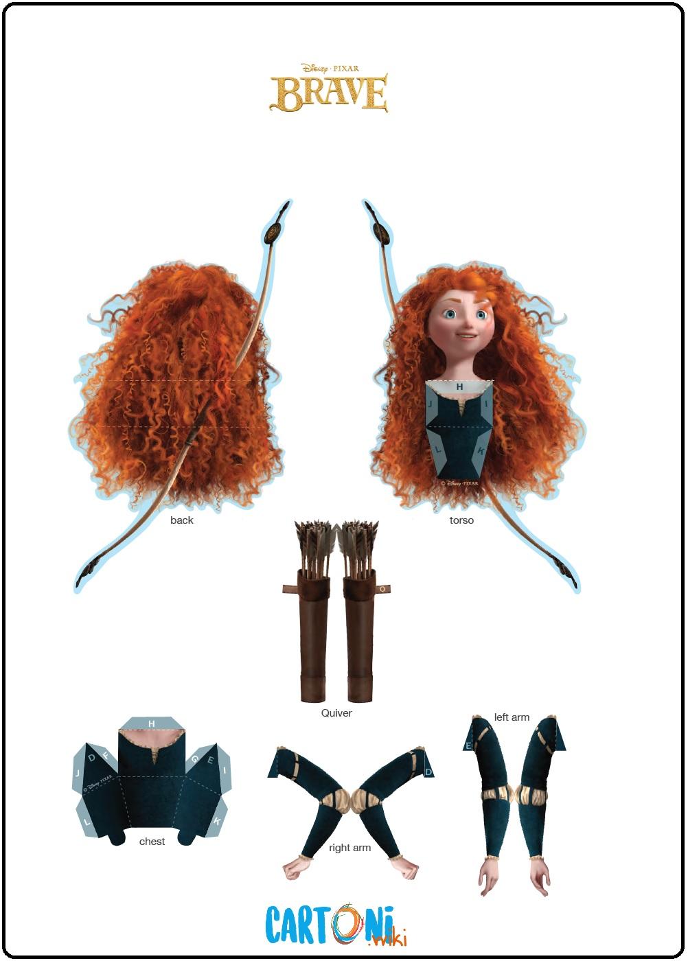 Merida bambola 3d da stampare - Cartoni animati
