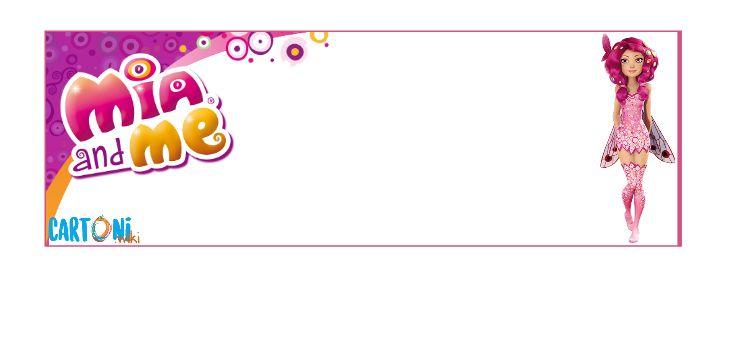 Biglietto invito festa compleanno di Mia and me - Cartoni animati